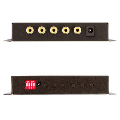Divisor de señal de video de 4 canales a color para coche Vista previa  2