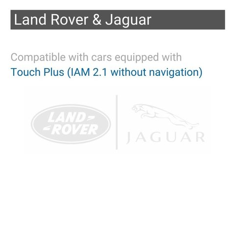 Wireless CarPlay and Android Auto Adapter for Jaguar / Land Rover / Range Rover with Touch Plus (IAM2.1 without navi) Preview 1