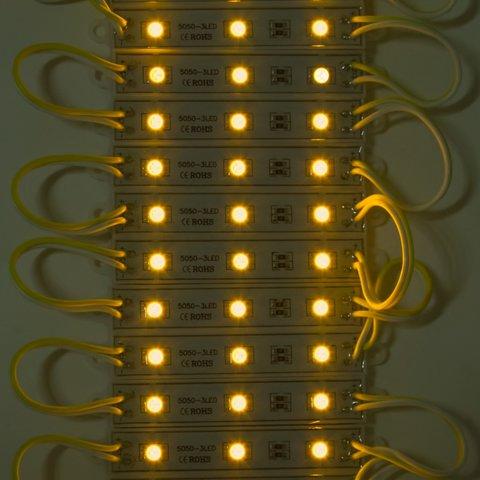 Світлодіодний модуль-стрічка SMD 5050, 20 шт. по 3 світлодіоди (жовтий, самоклеючий, 1200 лм, 12 В, IP65) Прев'ю 1