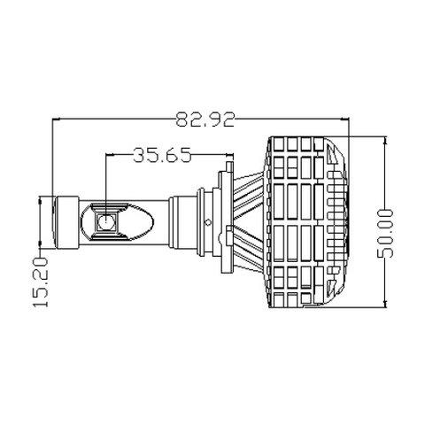 Набір світлодіодного головного світла UP-6HL (9005 (HB3), 3000 лм, сумісний з CAN-шиною) Прев'ю 3